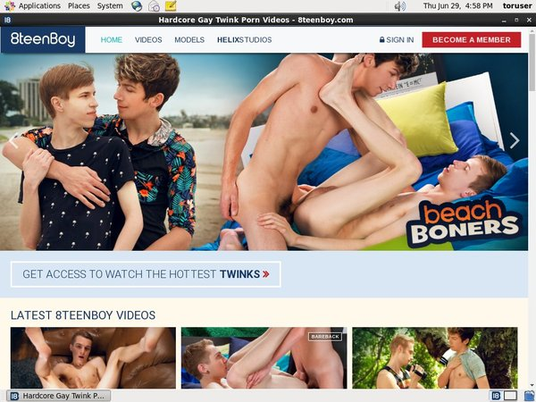 8 Teen Boy Discounted Membership
