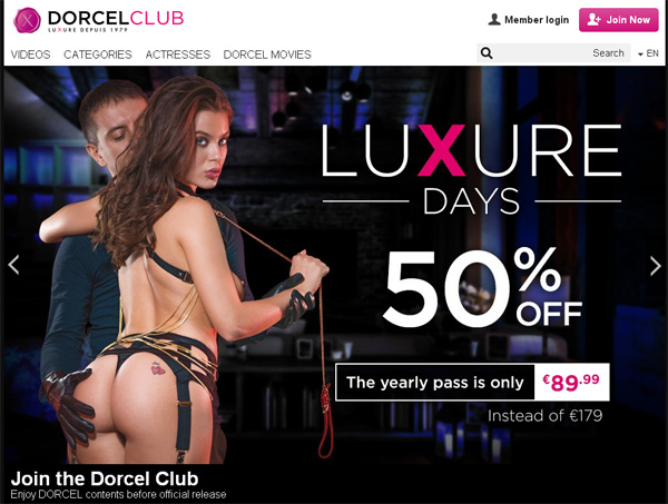 Dorcel Club Join With SMS
