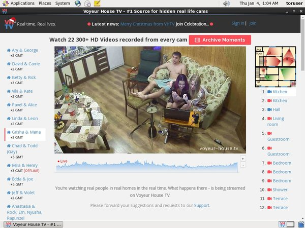 Voyeur House TV Without Credit Card
