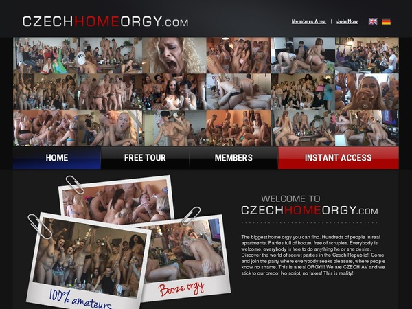 Czech Home Orgy Membership Discounts