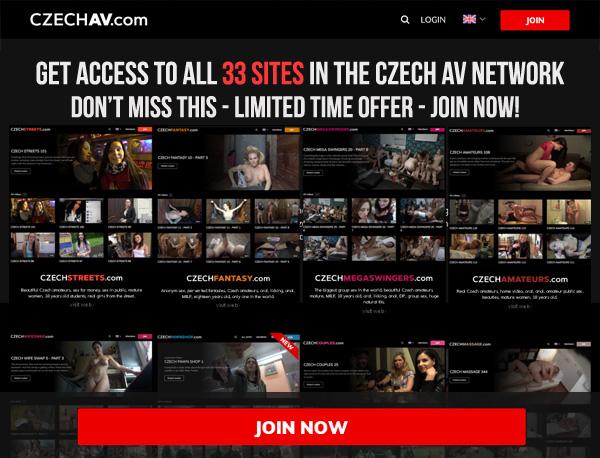 Czechav.com Sign Up Page