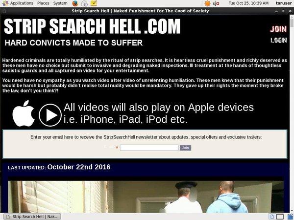 Strip Search Hell Stream